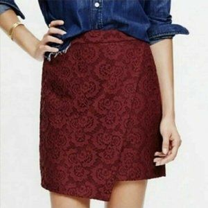 Madewell Lace Lined Mini Skirt